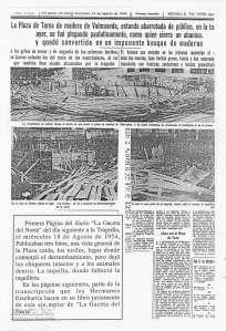 """Primera página del diario """"La Gaceta del Norte"""" del día 18 de agosto"""