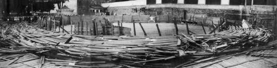 Plaza de toros caida 1954